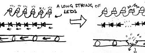 connecting leds in series parallel