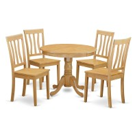 Oak Small Kitchen Table and 4 Chairs Dining Set | eBay