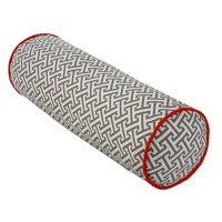Grey and Orange Tube Maze Decorative Pillow - Overstock ...