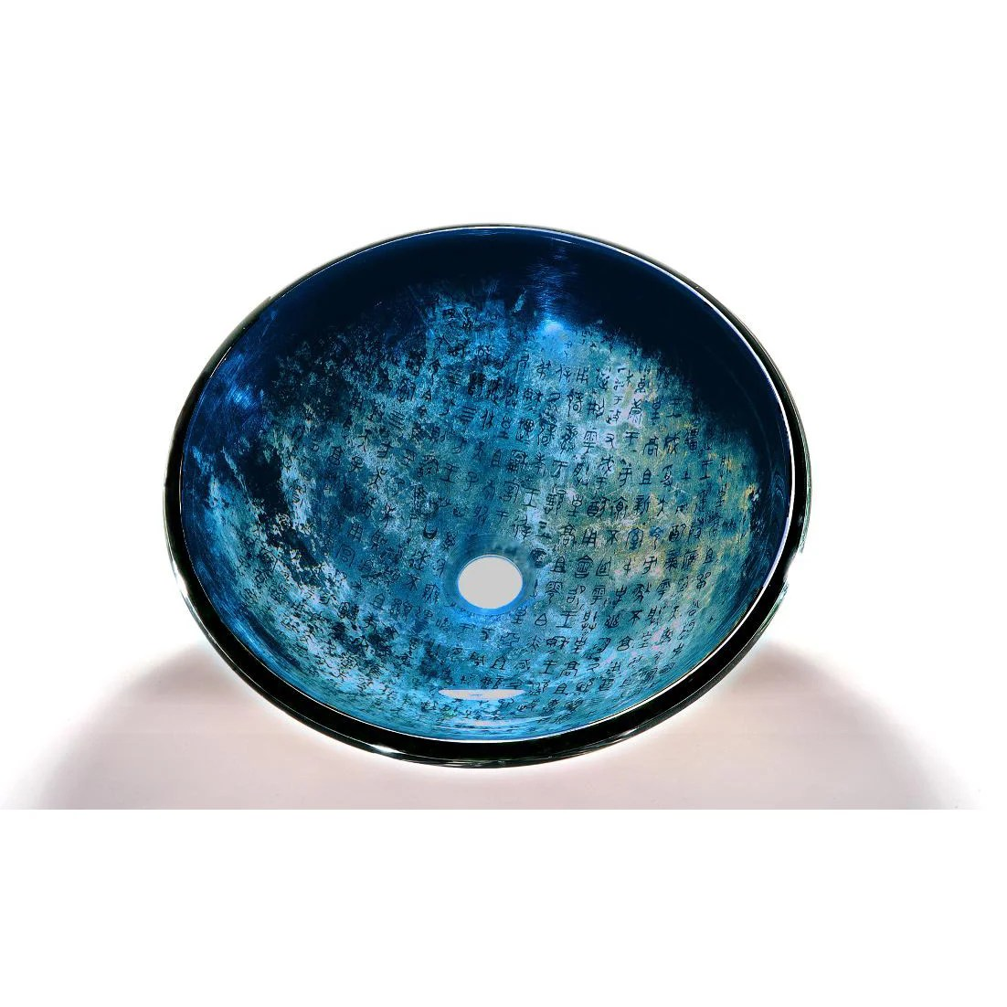 Glass Bathroom Bowls Blue Glass Bowl Vessel Bathroom Sink Overstock Shopping