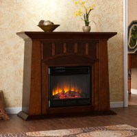 Bayard Espresso Electric Fireplace - Overstock Shopping ...