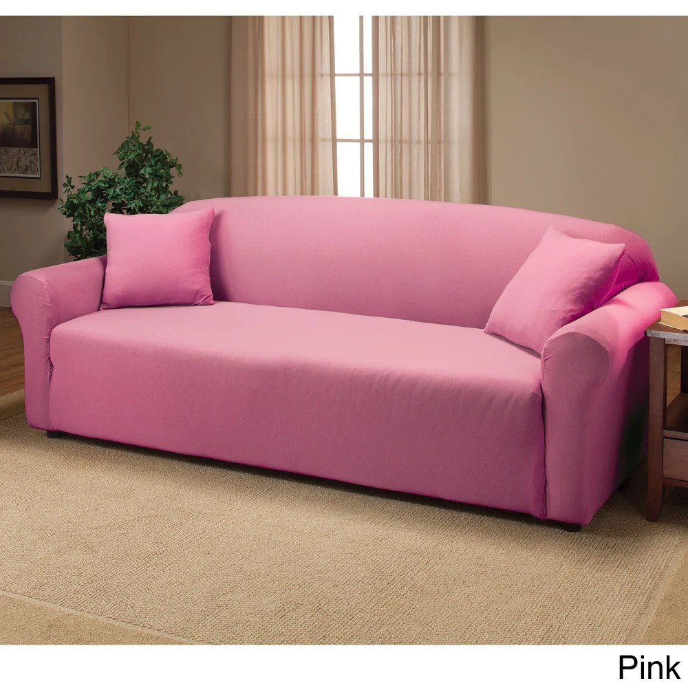 Ebay Sofa Pink Madison Jer Sofa Pk Stretch Jersey Sofa Slipcover Solid Pink