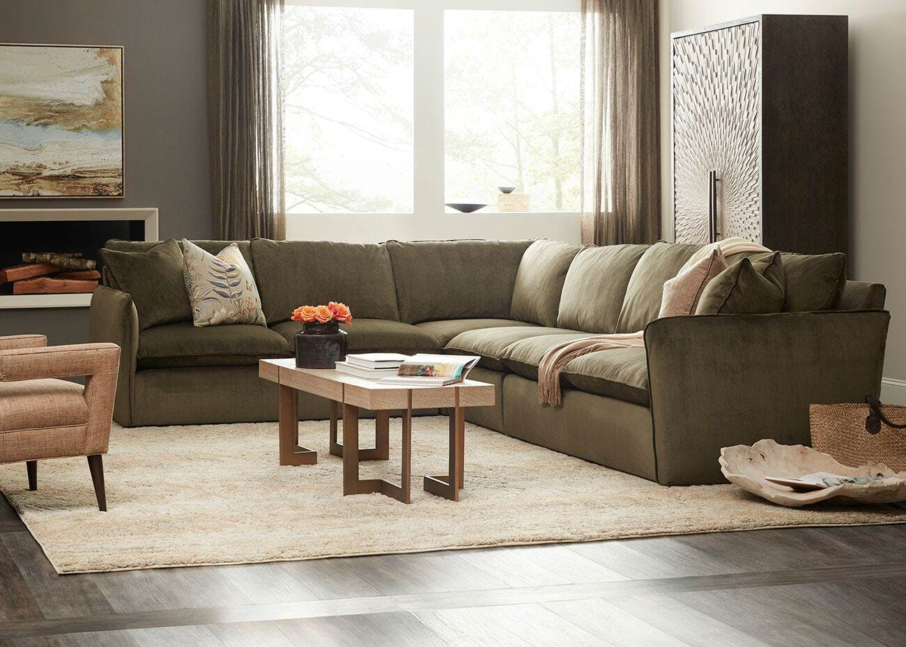 Fabric Sectional Sofas Canada Updated Classics Trendy Transitional Home Furnishings
