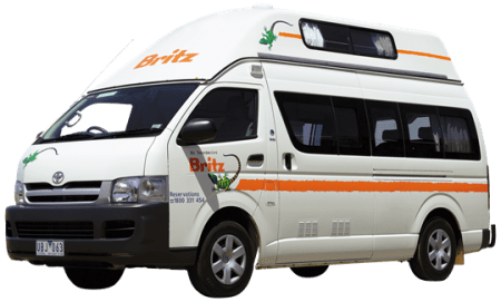 campervan hire in australia - britz campervan hi top