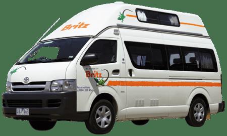 campervan hire in australia - britz campervan hi top