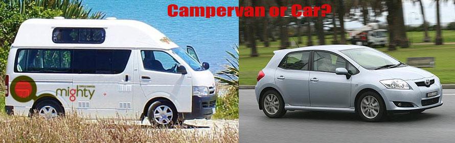 campervan hire vs car hire australia