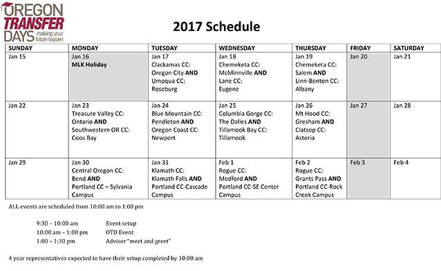 Transfer Fair Schedule \u2013 Planning Your Degree \u2013 Online  Distance