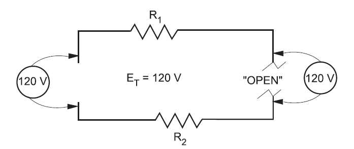 figure 20 voltage drops in a series circuit