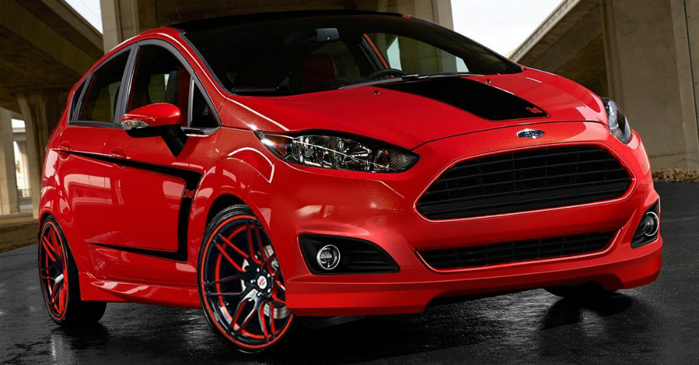 2016 Red Ford Fiesta
