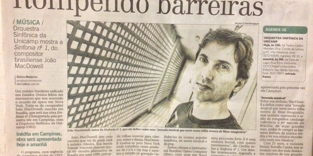Correio Popular - Rompendo Barreiras - Joao MacDowell - 04-10-2014