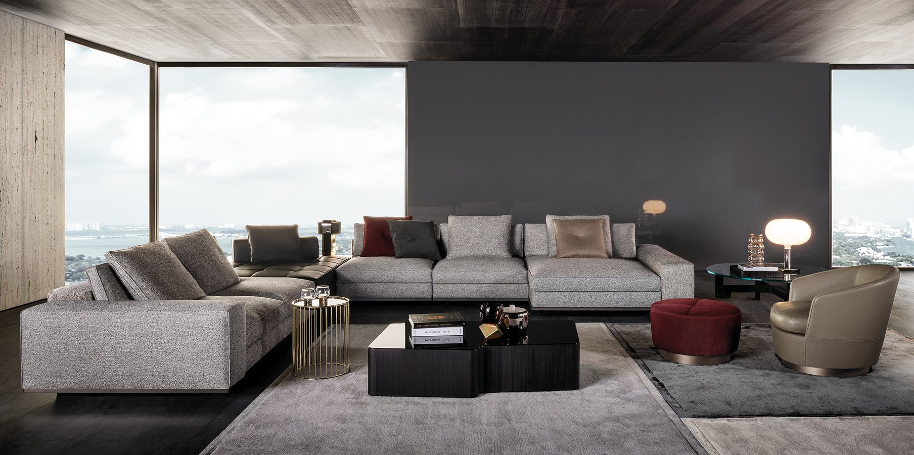 Minotti Couchtisch Lawrence Seating System By Minotti — | Ecc