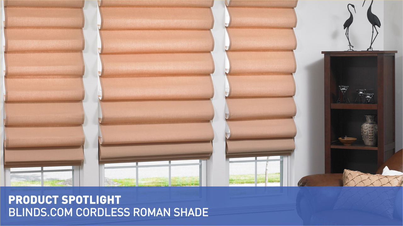 Blinds Spotlight Blinds Cordless Roman Shade