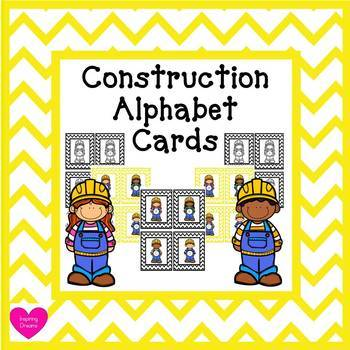 Construction Capital and Lower Case Alphabet Card Activity by - alphabet card