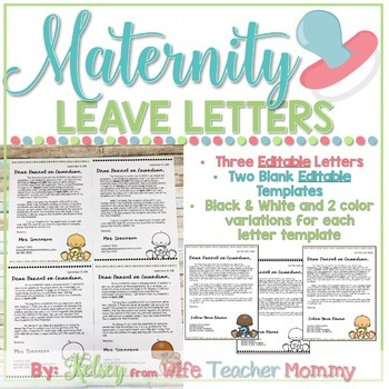 Maternity Leave Letter To Parents Worksheets  Teaching Resources TpT