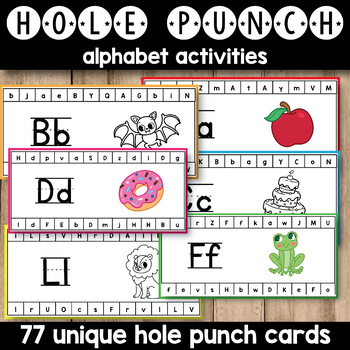 Hole Punch Activities (Alphabet Hole Punch Cards) TpT - punch cards
