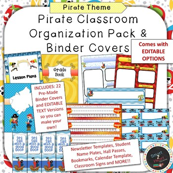 Pirate Binder Covers and Classroom Organization Pack by Smart 2