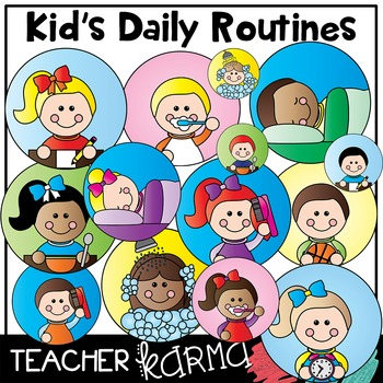 Kid  Student Daily Routines * Picture Schedule Clipart by Teacher Karma