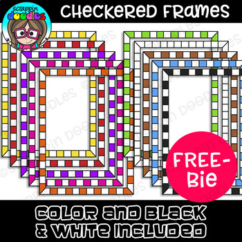 FREE} Checkered Borders by Scrappin Doodles Teachers Pay Teachers