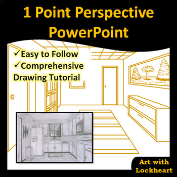 1 Point Perspective PowerPoint How to Draw Boxes and a Room TpT