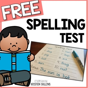 Spelling Test Template by Kristen Sullins at Where the First Graders Are - spelling test template