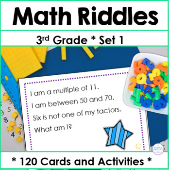 Third Grade Math Riddle Task Cards by Primary Inspiration by Linda