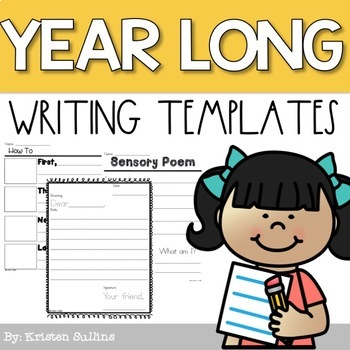 First Grade Writing Templates by Kristen Sullins at Where the First