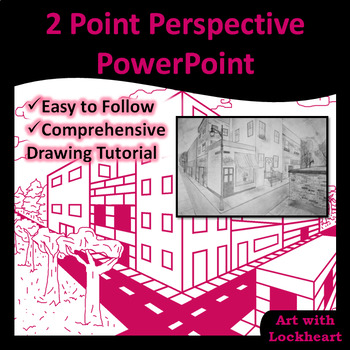 2 Point Perspective PowerPoint How to Draw Boxes and a City TpT