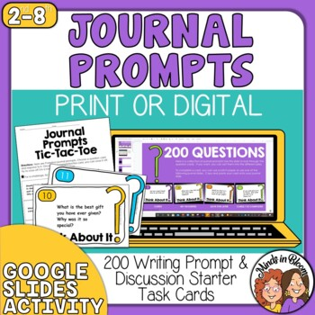 Writing Prompts 200 Question Cards for Discussion and Journals
