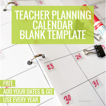 Teacher Monthly Calendar Teaching Resources Teachers Pay Teachers - teachers planning calendar