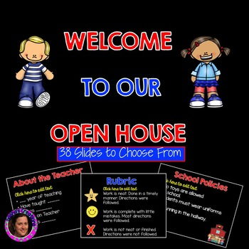 Open House Powerpoint Template by Sasha\u0027s Creations TpT - open house powerpoint template