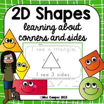 2D Shapes Book and Printables by Miss Campos Teachers Pay Teachers