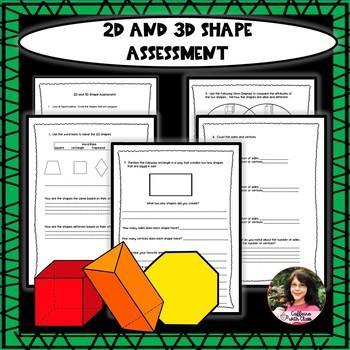 2d 3d Shapes Poster Printable Cartlesslbro2d 3d shapes assessment