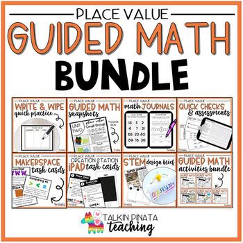 BUNDLE Second Grade Guided Math Place Value Unit by Talkin Pinata - place value unit