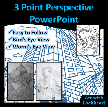 3 Point Perspective PowerPoint How to Draw Boxes and a City TpT
