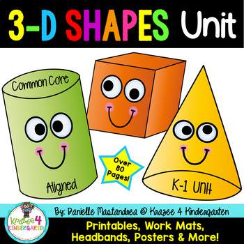 3d Shapes Attributes Posters Teaching Resources Teachers Pay Teachers