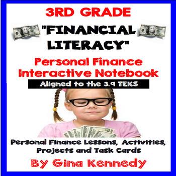 3rd Grade Personal Finance, Financial Literacy Unit (ALL 39 TEKS)