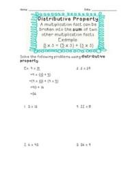Worksheets Distributive Property 5th Grade - Kidz Activities