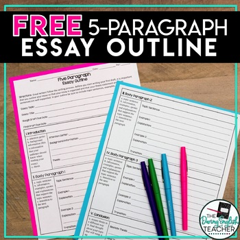 FREE Five Paragraph Essay Outline by The Daring English Teacher TpT - 5 paragraph essay outline template