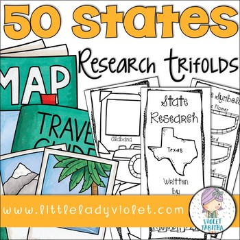 50 States Research Project Report Trifold Brochures by Violet Tabitha - research project report