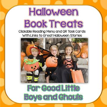Halloween Book Treats ~ On-Screen Reader Menus  QR Code Task