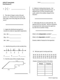 6th Grade Common Core Math Final Review Worksheets by Jeni ...