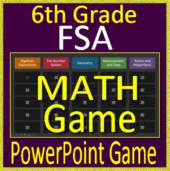 6th Grade FSA Math Test Prep - Jeopardy Style Math Game for