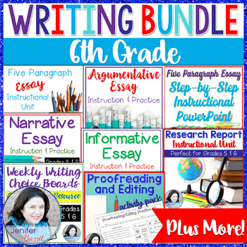 6th Grade Writing Bundle by Jenifer Bazzit - Thrive in Grade Five