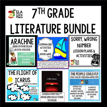 7th Grade Literature Collection Using HMH Collections Textbook TpT