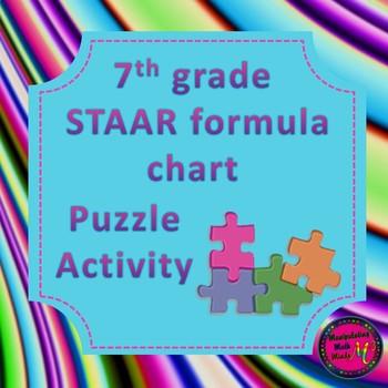 7th Grade Staar Math Formula Chart Teaching Resources Teachers Pay