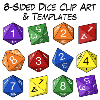 8 Side Dice Worksheets  Teaching Resources Teachers Pay Teachers