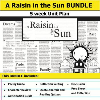 A Raisin in the Sun Unit by S J Brull Teachers Pay Teachers