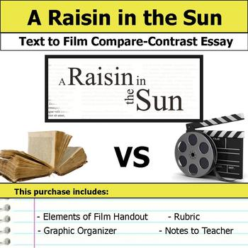 A Raisin in the Sun - Text to Film Essay by S J Brull TpT