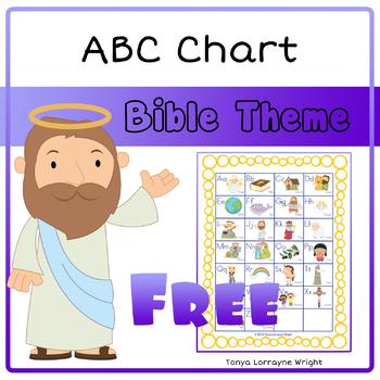 ABC Chart Bible Theme by Tonya Lorrayne Wright TpT
