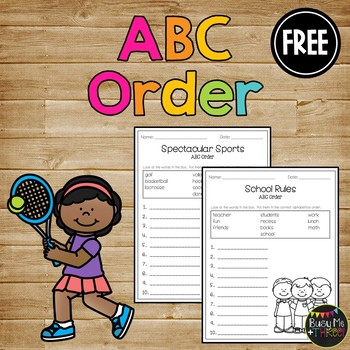 ABC Order Worksheet FREE Alphabetical Order Activities - 1st  2nd